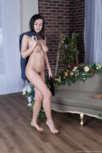 Ramira strips naked in her living room